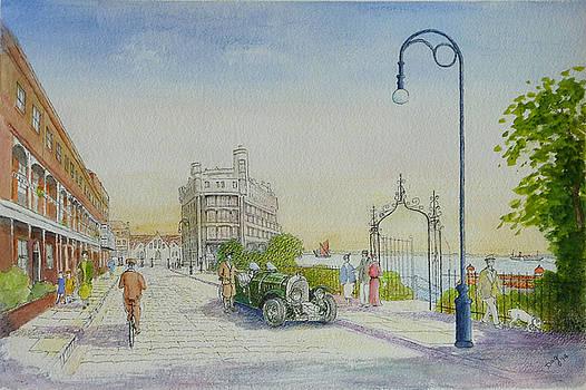 Royal Terrace 1930's by David Godbolt