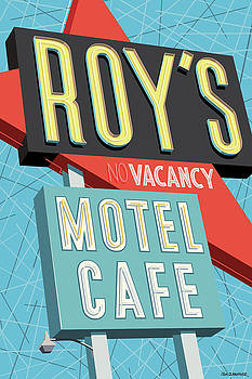 Roy's Motel Cafe Pop Art by Jim Zahniser