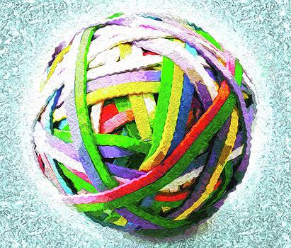 Rubberband Ball IV by Pekka Liukkonen