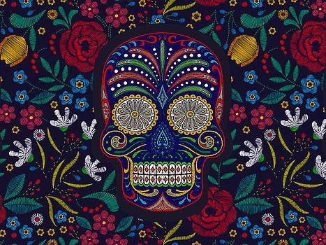 Rubino Floral Skull by Tony Rubino