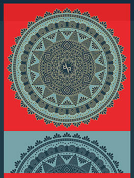 Rubino indian Mandala by Tony Rubino