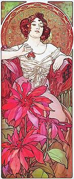 Alphonse Mucha - Ruby