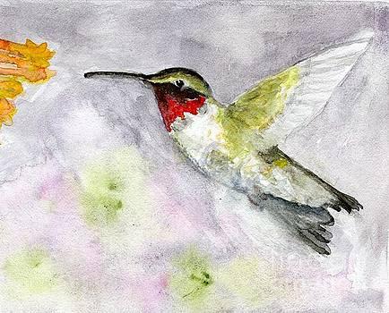 Ruby-throated Hummingbird by Andrea Rubinstein