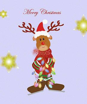 Rudolph with lights by Ashima Kaushik