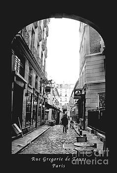 Felipe Adan Lerma - Rue Gregorie de Tours Poster BW