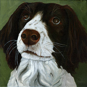 Rueger - dog portrait oil painting by Linda Apple