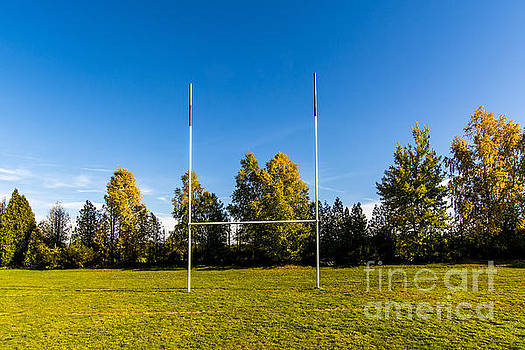 BERNARD JAUBERT - Rugby field with rugby post