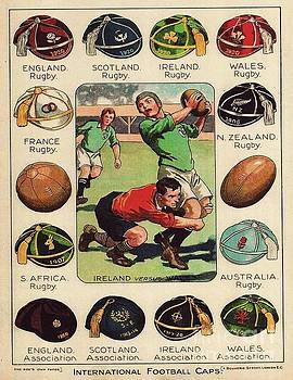 Rugby - Football Caps by Roberto Prusso