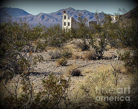 Ruins at Rhyolite Ghost Town by Joy Patzner