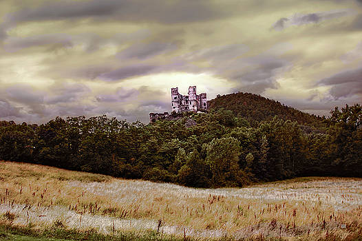 Ruins of Chateau de Domeyrat Castle, Auvergne, France by Menega Sabidussi