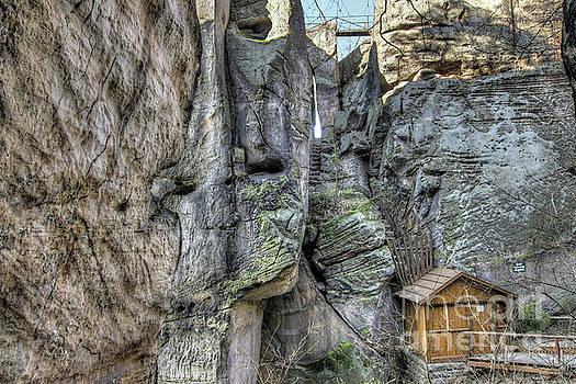Ruins of the rock castle Drabske svetnicky by Michal Boubin