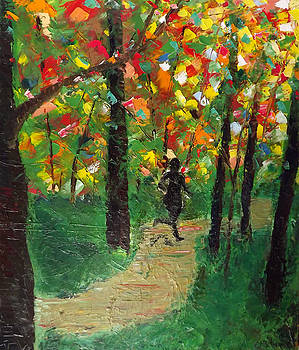 Runner on Green Path by Emily McLemore