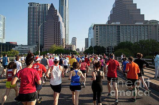 Herronstock Prints - Runners at start of annual 10K race in downtown Austin Texas