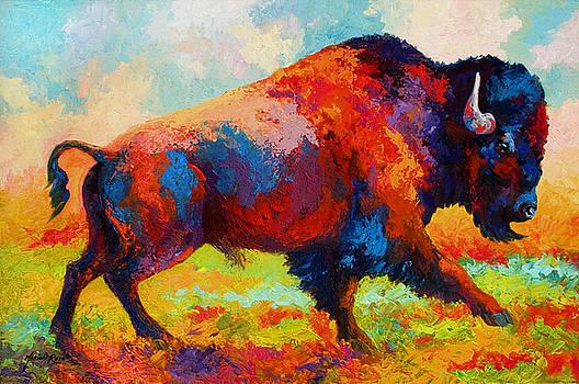 Marion Rose - Running Free - Bison