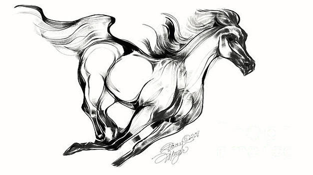 Running Horse by Stacey Mayer