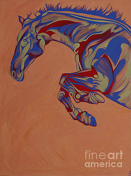 Running Horse  by Yaani Art