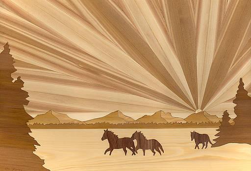 Running Horses by Glen Stanley