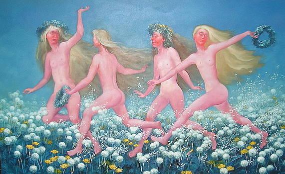 Running Midsummer dandelions by Sergey Zinovjev