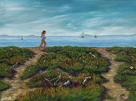 Running on the Beach by Maria Gibbs