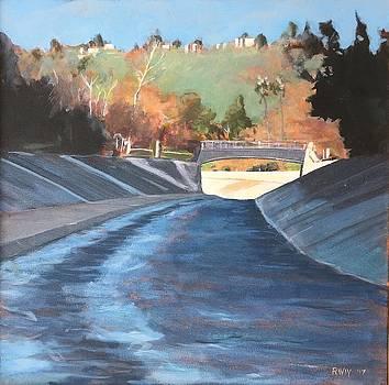 Running the Arroyo, Wet by Richard Willson