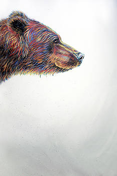 Teshia Art - Running Wild Triptych PANEL 3 RIGHT PIECE