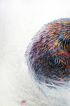 Teshia Art - Running Wild Triptych PANEL 1 LEFT PIECE