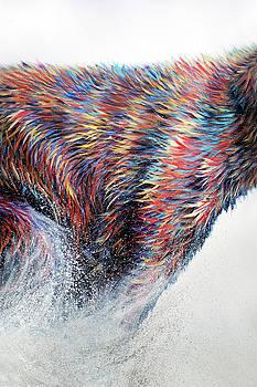 Teshia Art - Running Wild Triptych PANEL 2 CENTER PIECE