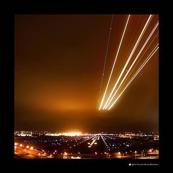 Runway At Night by Nicolas Lockheimers