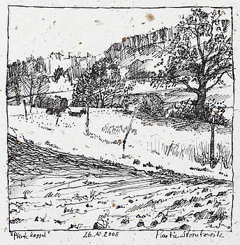 Martin Stankewitz - rural landscape ink drawing