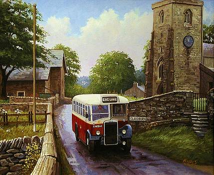 Rural Leyland single-decker. by Mike Jeffries