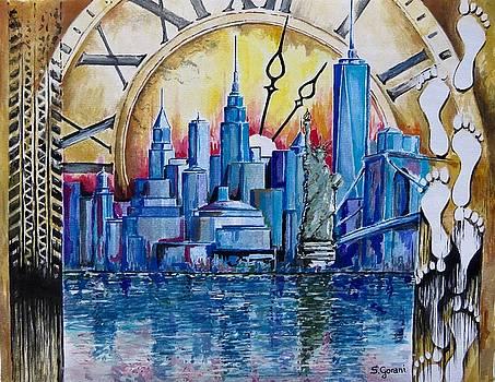 Rush Hour In New York  by Geni Gorani