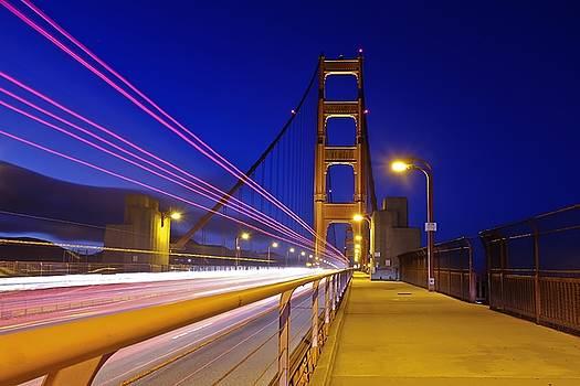 Golden Gate Bridge Rush Hour by Jorge Guerzon