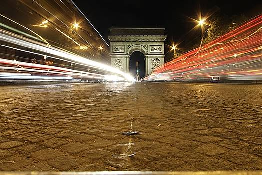 Rush hour on the Champs-Elysees by Sean Flynn