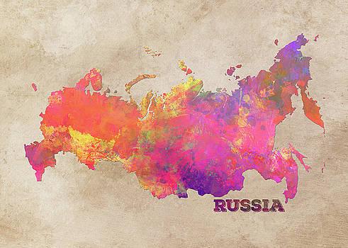 Justyna Jaszke JBJart - Russia map