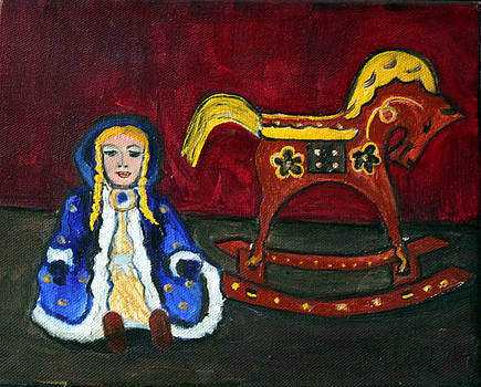 Russian Doll and her Rocking Horse by Pilar  Martinez-Byrne