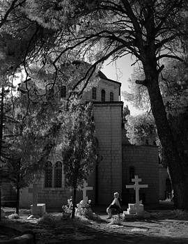 Zoriy Fine - Russian Orthodox church on the Eleon mountain infrared