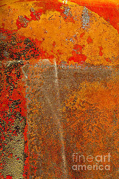 Rust Abstract of Arcs and Rectangles by Sharon Foelz