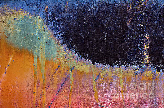 Rust Abstract with Curved Line by Sharon Foelz