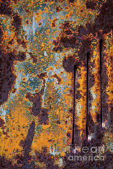 Rust Abstract Car Part by Sharon Foelz