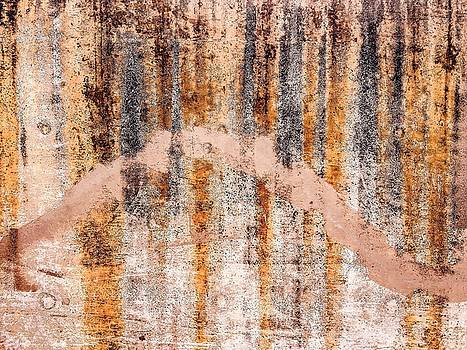 Rust on concrete by William Braddock