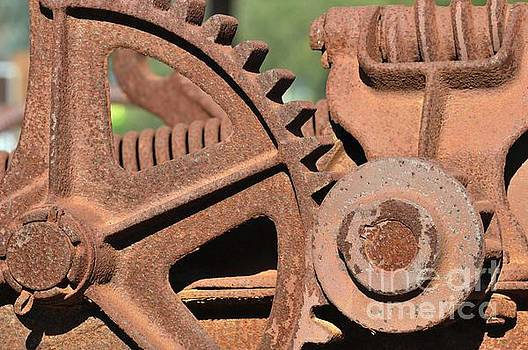 Rusted gears by Dot Lestar Roberts