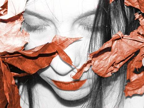 Rusted Leaves And Lips by Heather King