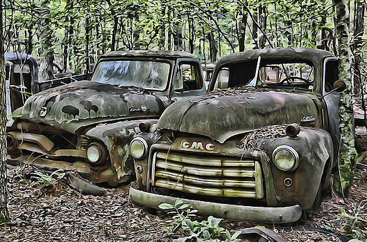 Rusted trucks by Alice Link