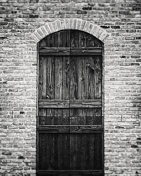 Lisa Russo - Rustic Austin Texas Doorway in Black and White