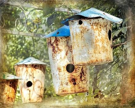 Rustic Birdhouses by Melissa Bittinger
