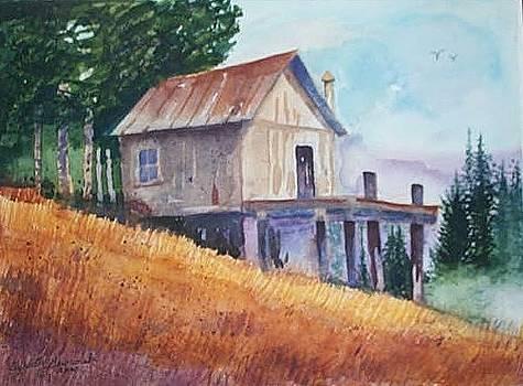 Rustic Cabin by Elizabeth A Gawronski