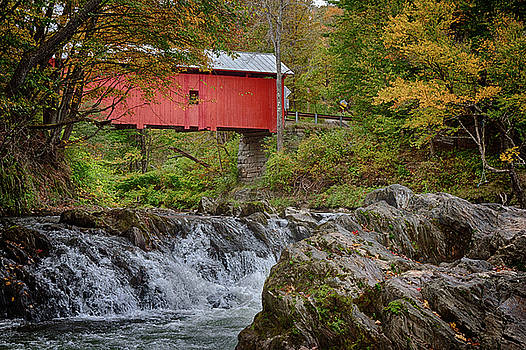 Rustic covered bridge by Jeff Folger