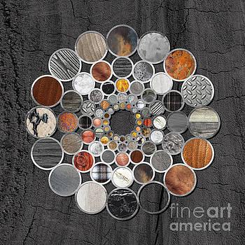Tina Lavoie - Rustic Geometry II unusual Modern geometric circle Urban Lodge art