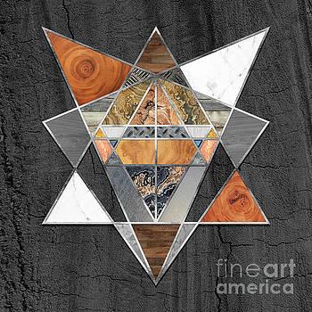 Tina Lavoie - Rustic Geometry unusual Modern polygonal Urban Lodge art