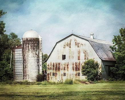 Rustic Metal Barn and Silo by Melissa Bittinger